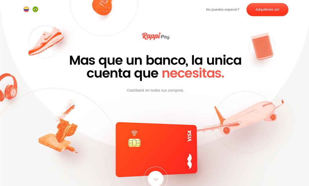 Web minimalista : Rappipay