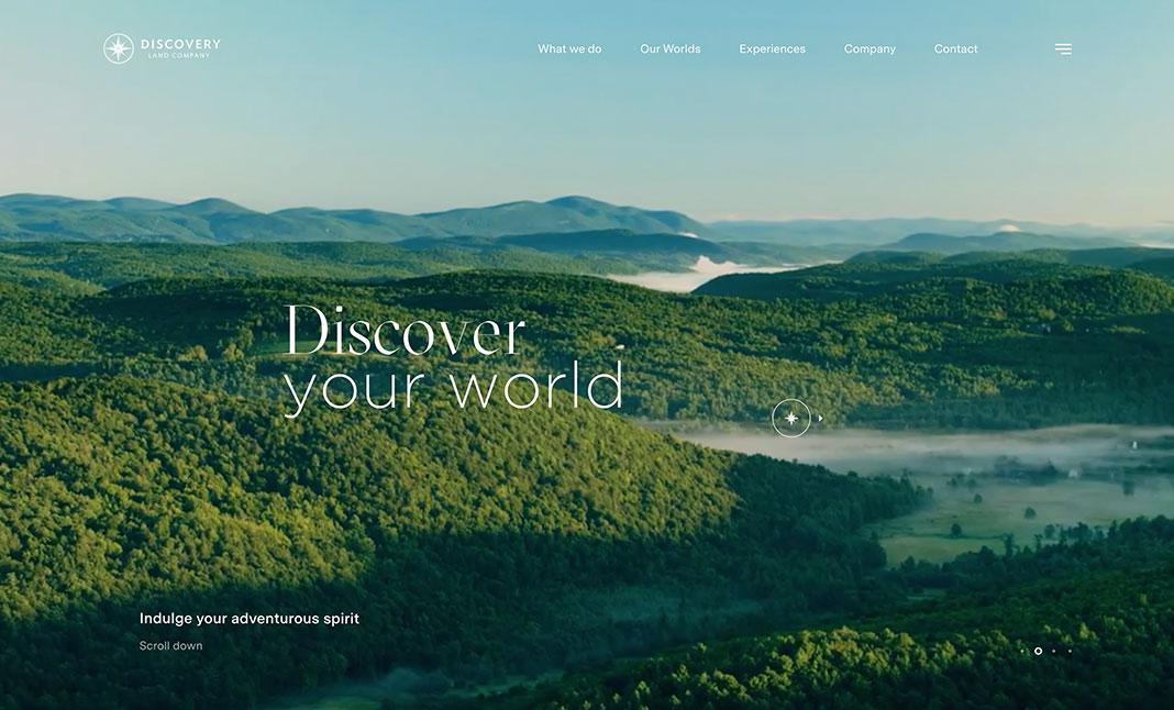 Web minimalista : Discover your word