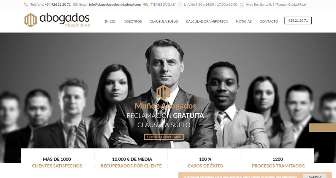 Diseño web Abogados Cláusula Suelo