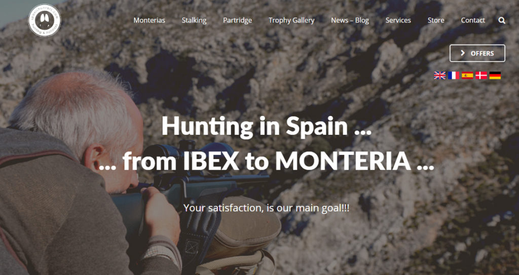 Diseño web Spanish Hunters
