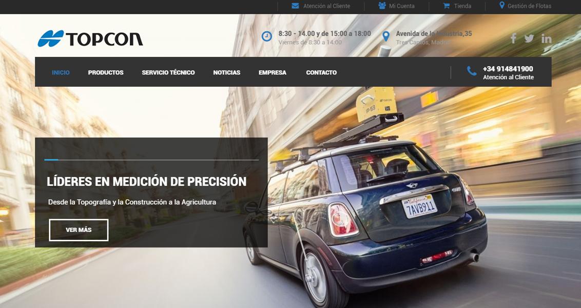 Diseño web TopCon Positioning