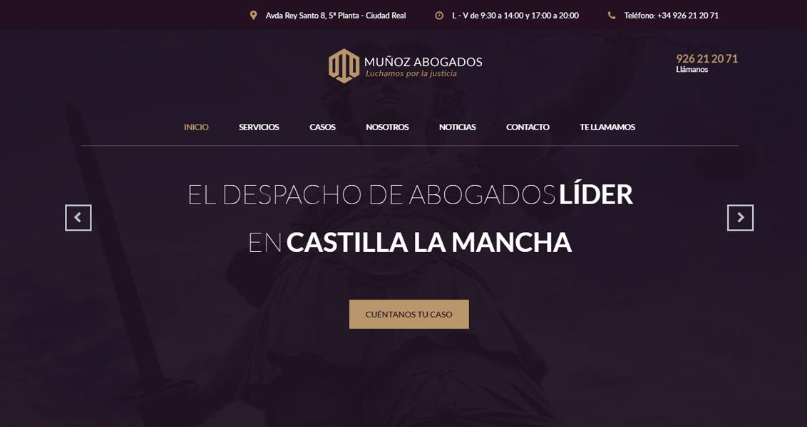Diseño web Abogados Muñoz