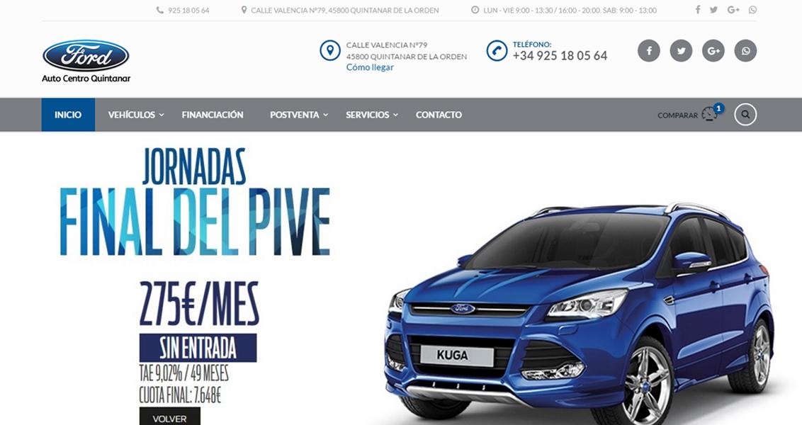 Diseño web Ford Autocentro