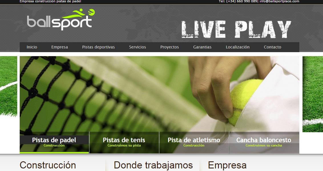 Diseño web Ball Sport Place