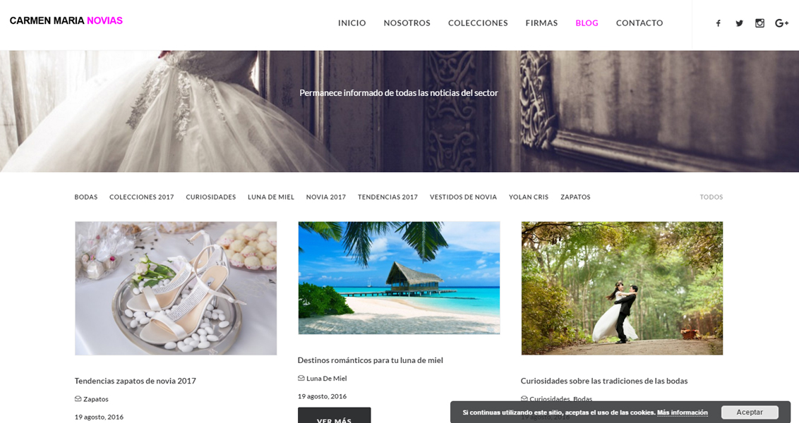 Diseño web Carmen Maria Novias