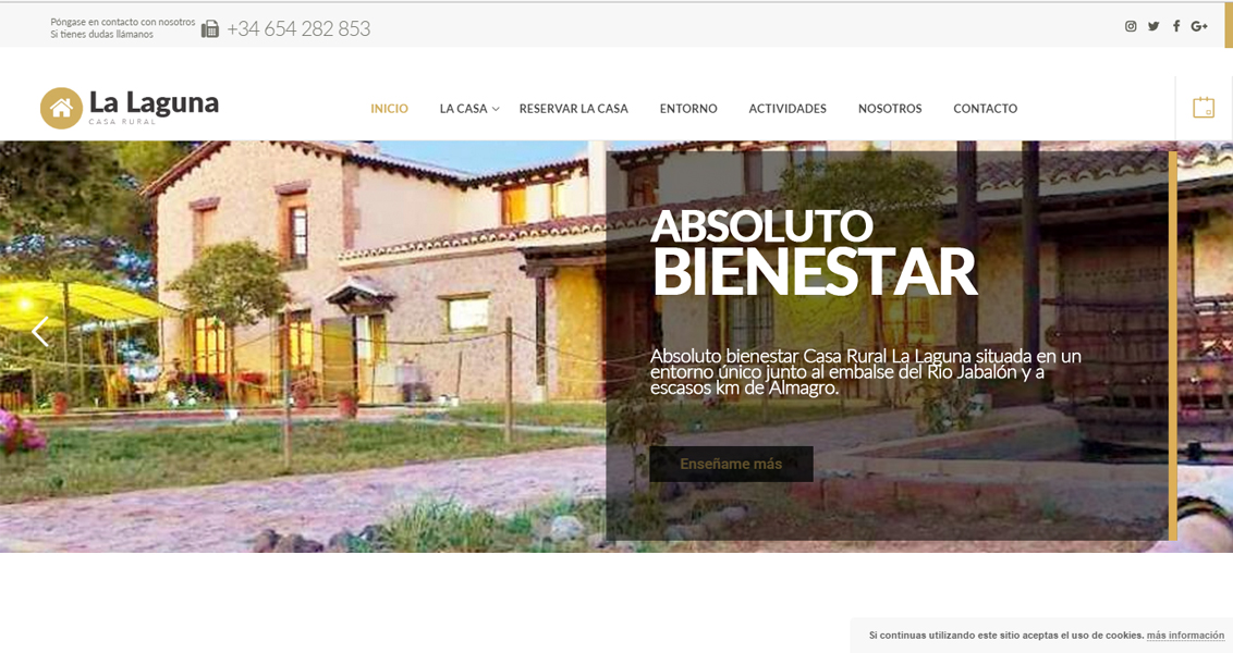 Diseño web Casa Rural La Laguna