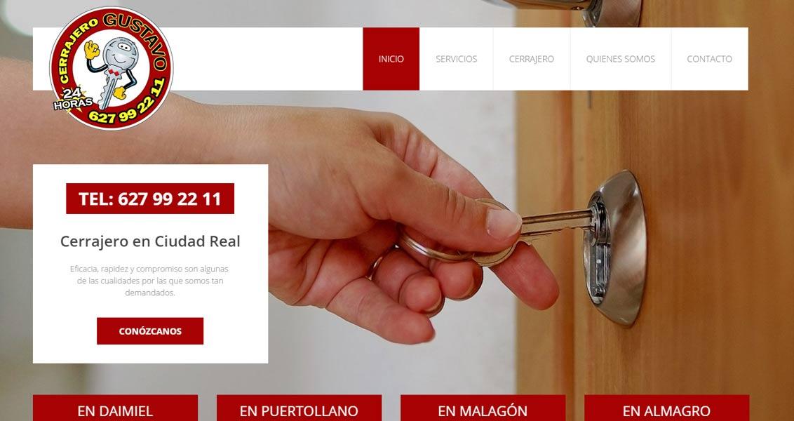 Diseño web cerrajero Gustavo Ciudad Real