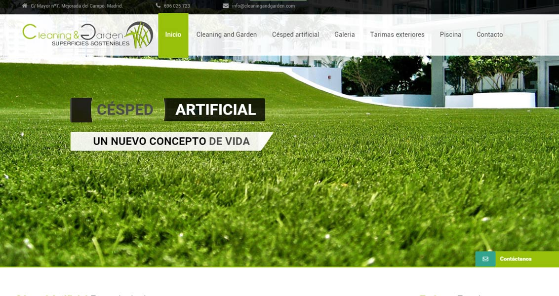 Diseño web Cleaning And Garden