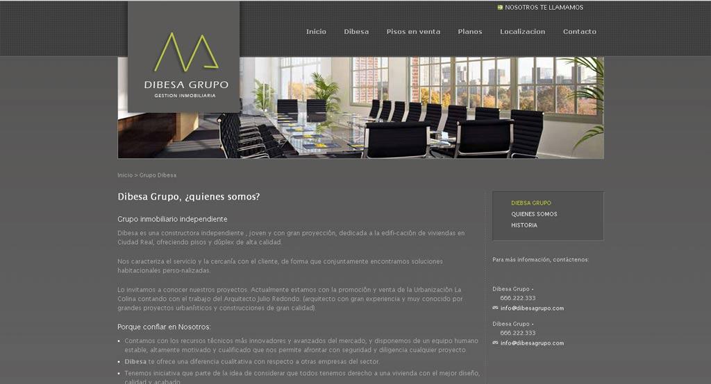 Diseño web Dibesa
