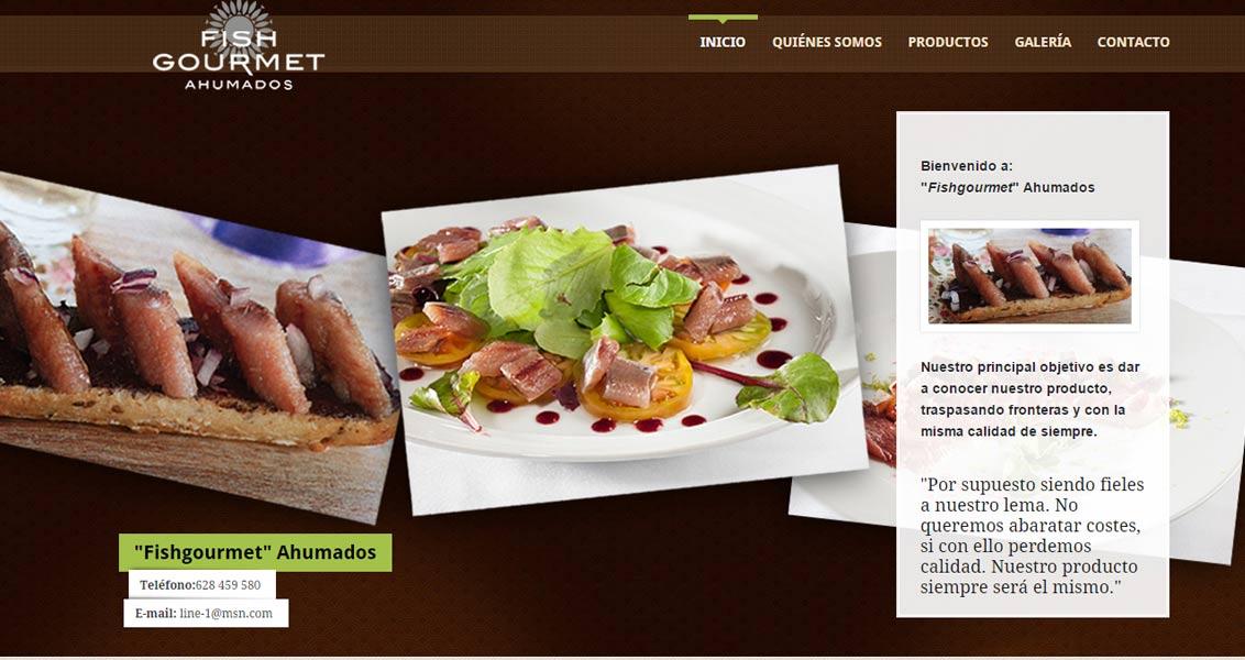 Diseño web Fish Gourmet