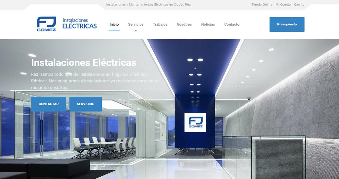 Diseño web FJ Instalaciones