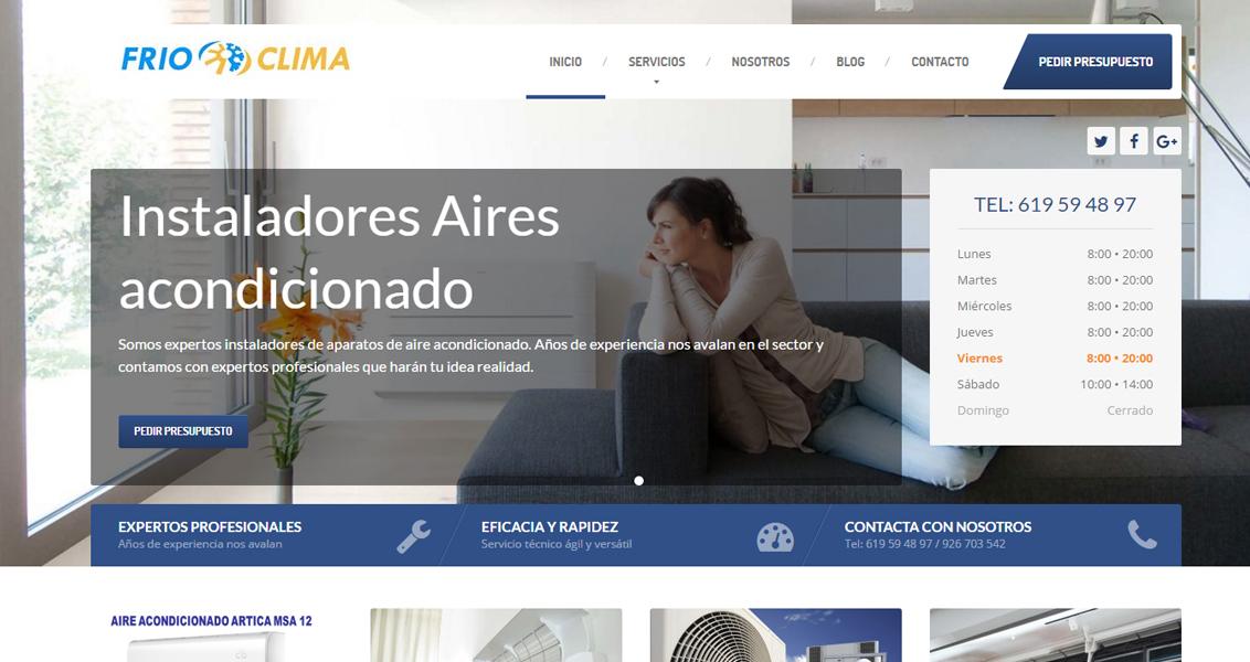 Diseño web Frio Clima Ciudad Real