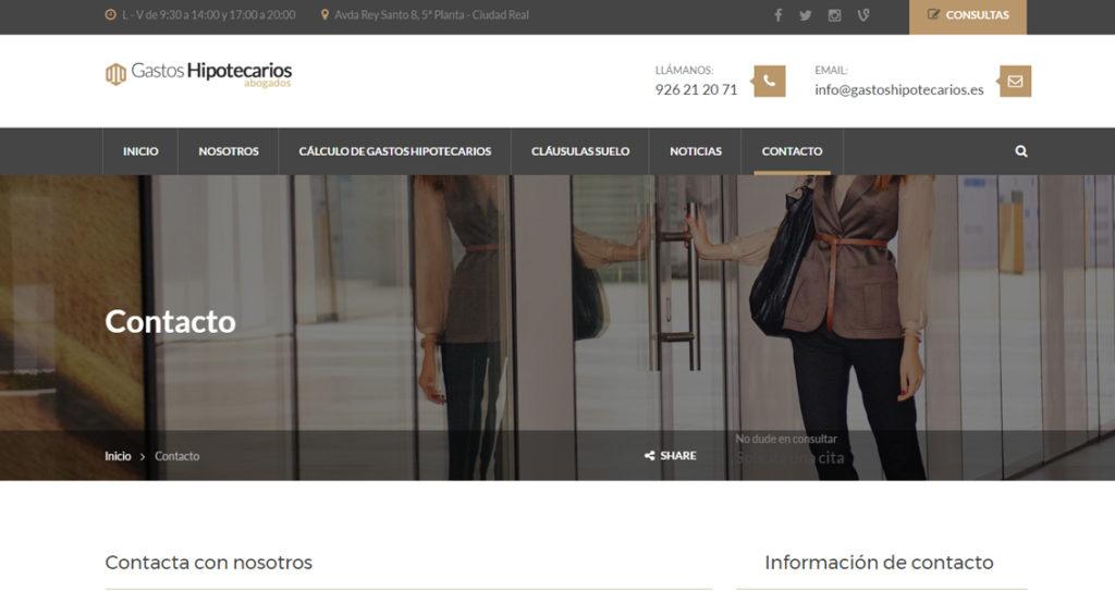 Diseño web Gastos Hipotecarios