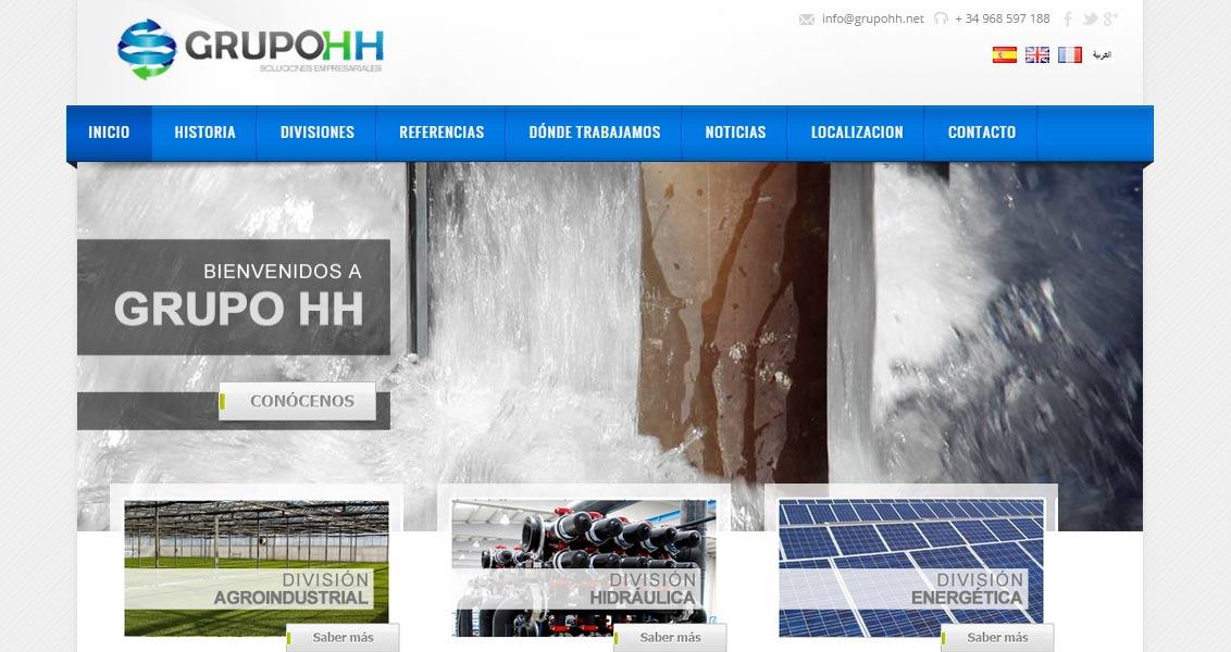Diseño web Grupo HH