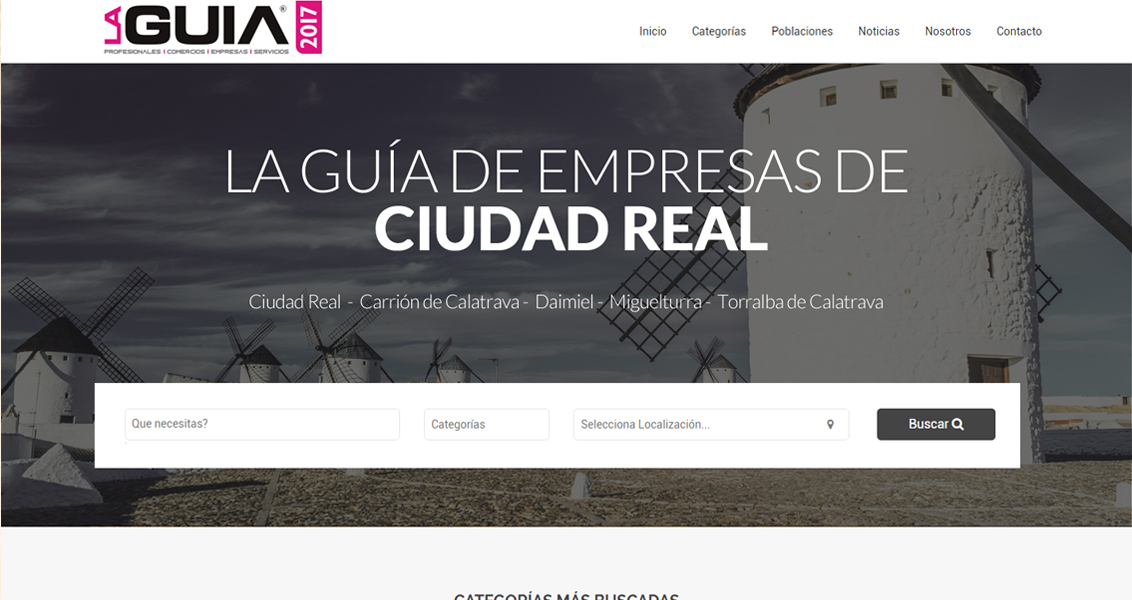 Diseño web La Guia de Ciudad Real