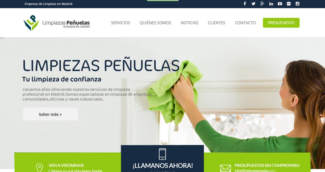 Diseño web Limpiezas Peñuelas