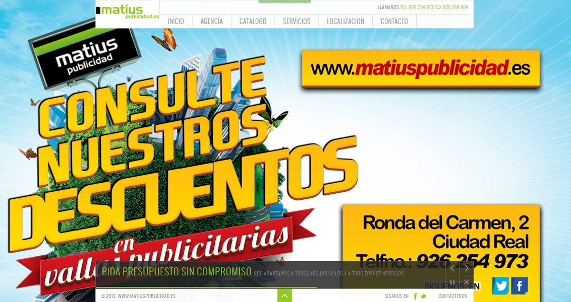 Diseño web Matius
