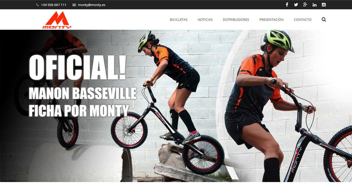 Diseño web bicicletas Monty