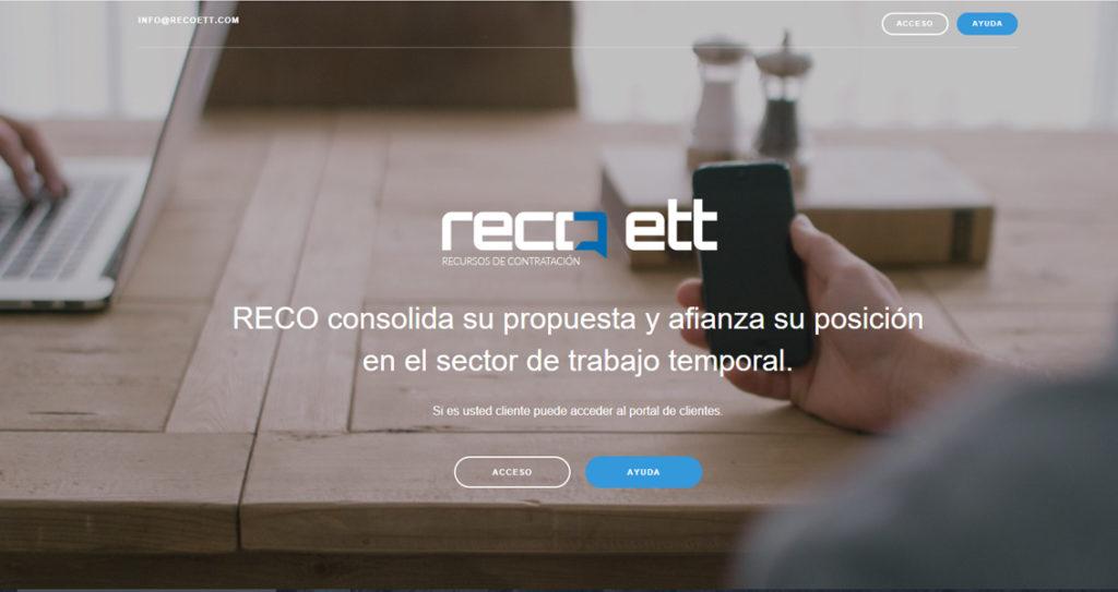 Diseño web Landing Page RECO ETT