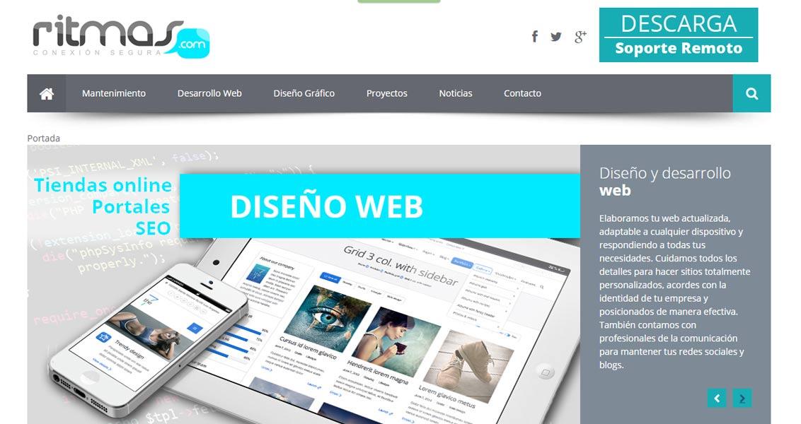 Diseño web Ritmas