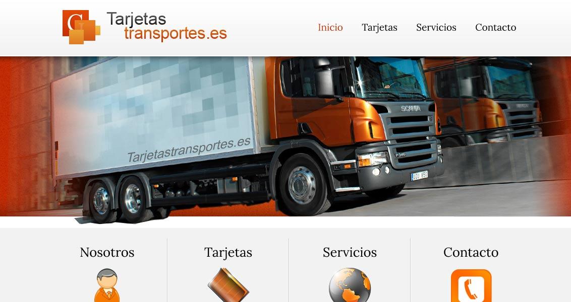 Diseño web tarjetas transporte