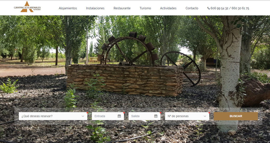 Diseño web Camping Los Arenales
