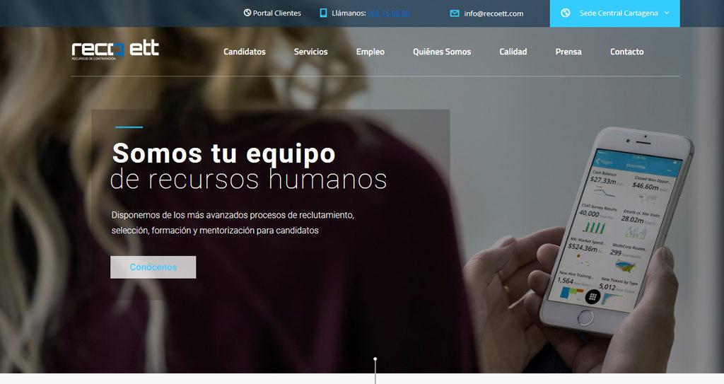 Diseño web para empresa de trabajo temporal