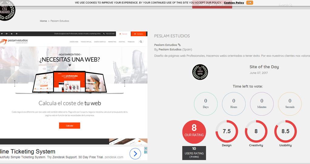 ganador mejor sitio web