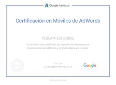 Certificación en Móviles de Adwords