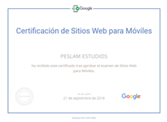 Certificación de Sitios Web Para Móviles De Google