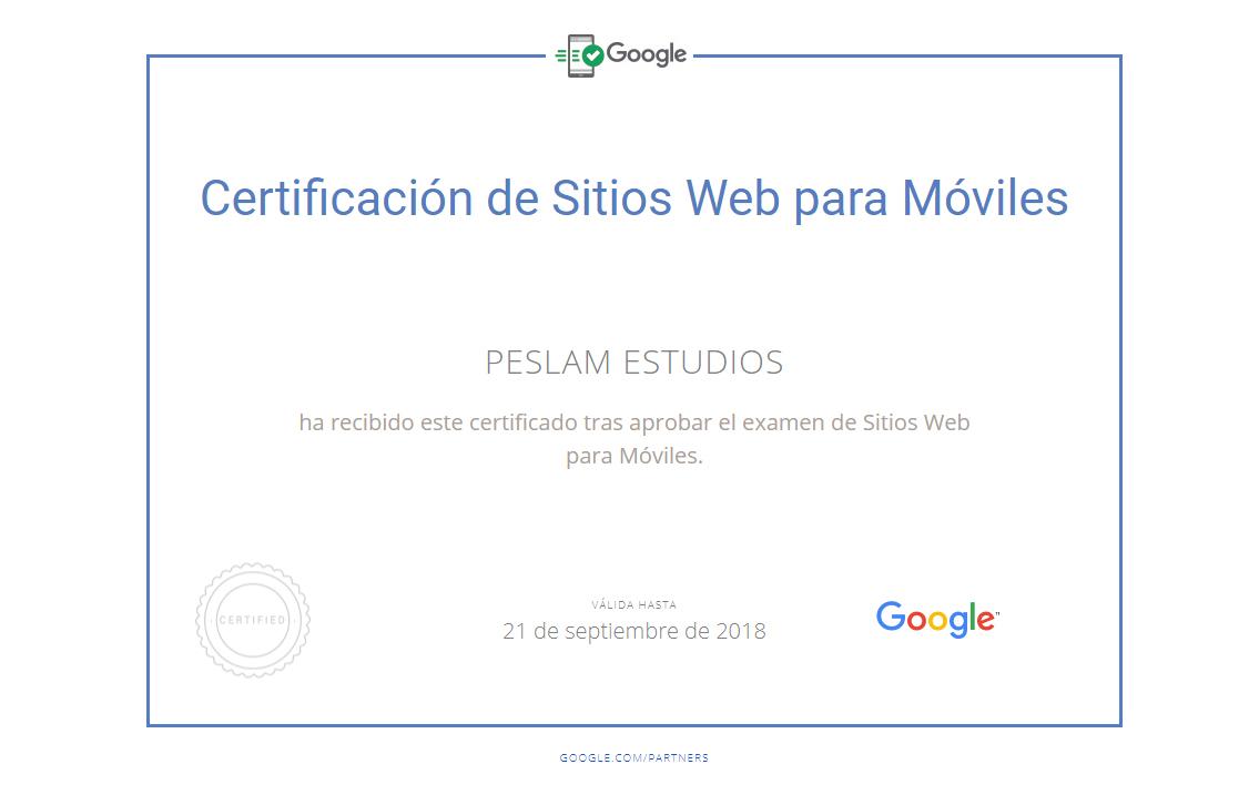 Certificación Sitios web para móviles