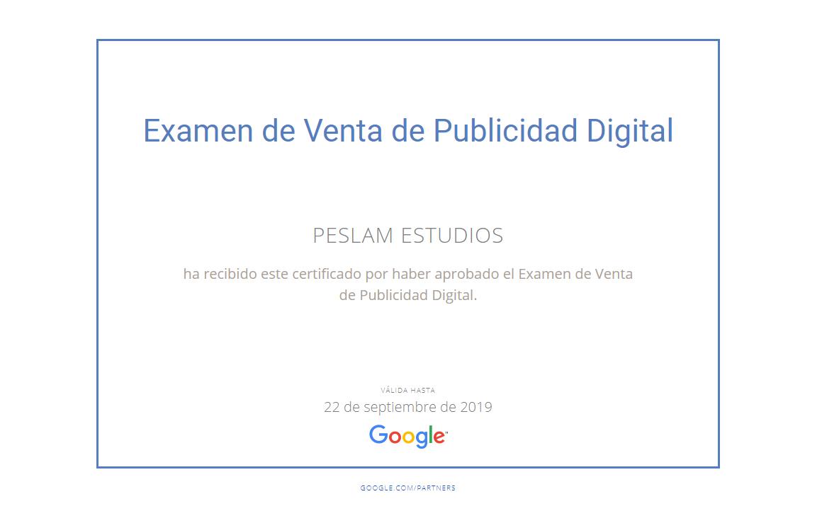 Examen de venta de Publicidad Digital