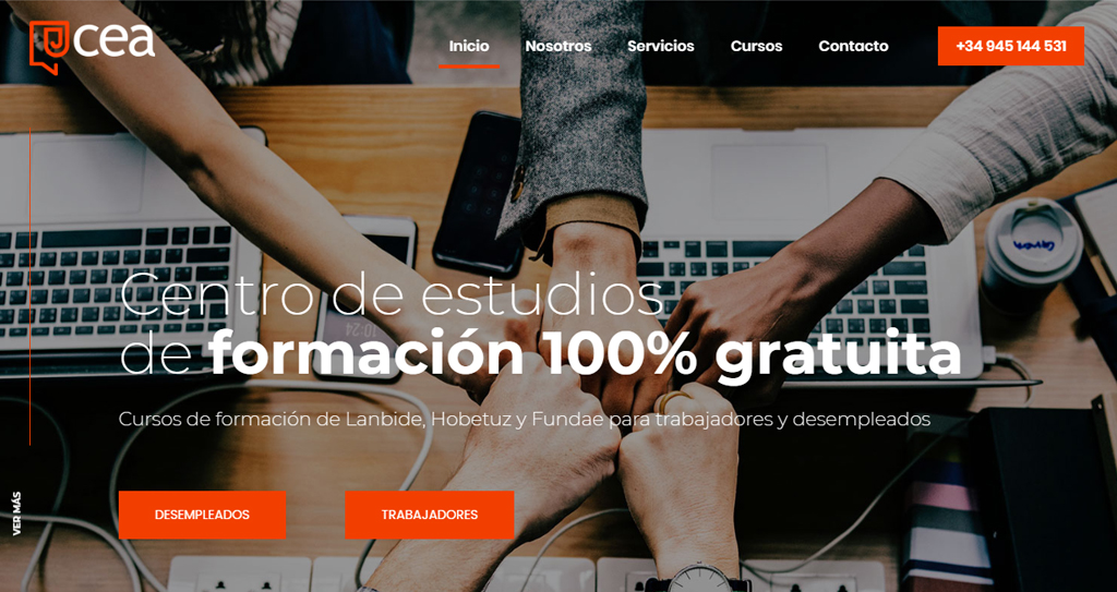 Diseño web Centro estudios Álava