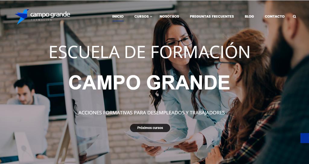 Diseño web Escuela campo grande formación