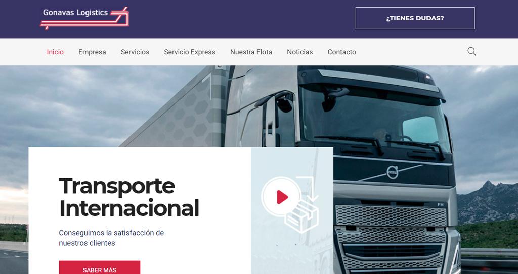 Diseño web transporte